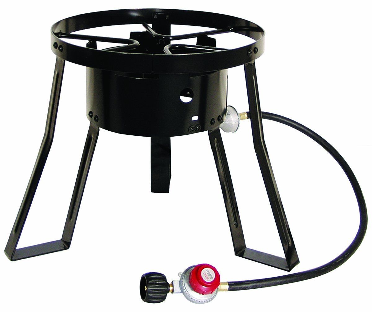 Amazon.com : Masterbuilt MB15 15-Inch LP Cooker Stand with Cast Iron ...