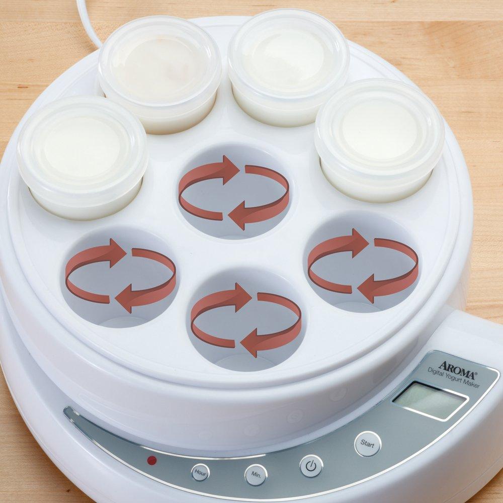 Aroma Housewares AYM-606 8-Cup Digital Yogurt Maker