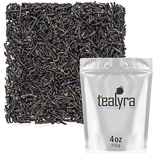 Tealyra - Keemun Mao Feng - Premium Chinese Black Loose Leaf Tea - Perfect English Breakfast Tea - Energy Boost - Caffeine Bold - Organically Grown - 110g (4-ounce)