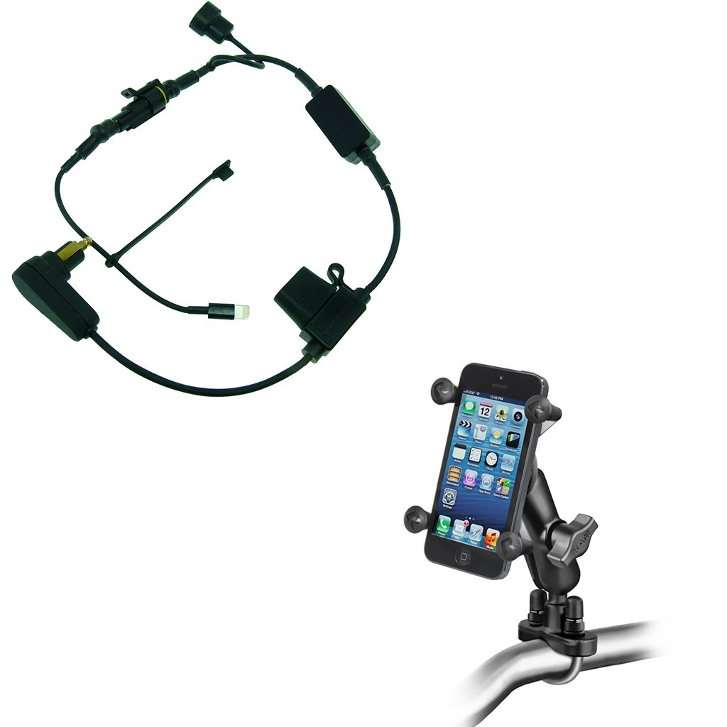 BuyBits Motorcycle Bundle with High Power Hella Charger, Bike Handlebar Mount & Ram X-Grip for iPhone 6 PLUS