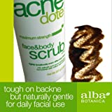 Alba Botanica Acnedote Face & Body Scrub 8 Oz (3 Pack)