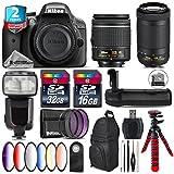 Holiday Saving Bundle for D3300 DSLR Camera + AF-P 70-300mm VR Lens + AF-P 18-55mm + Flash with LCD Display + Battery Grip + 6PC Graduated Color Filter Set + 2yr Warranty - International Version