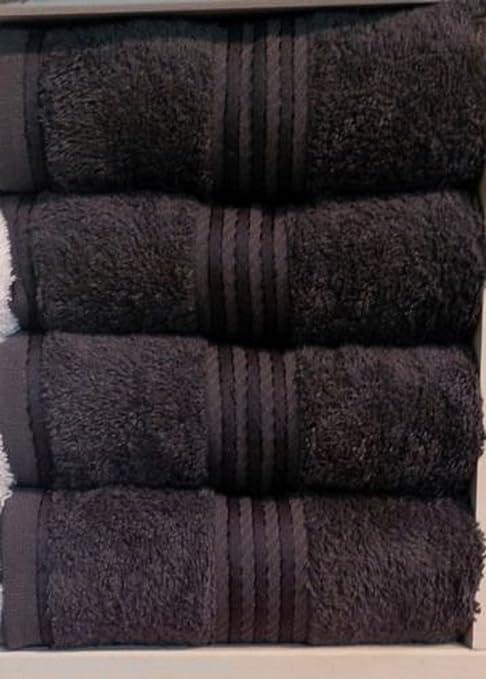 Negro 6 piezas Hotel gama toalla 550 GSM 100% algodón egipcio de cara de mano