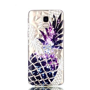 Coque Samsung Galaxy J6 2018Peint TPU Souple Ananas Coque Bumper Housse Etui pour Samsung Galaxy J6 2018