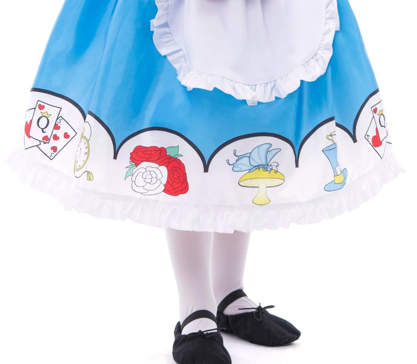 Medium Age 3-5 Little Adventures Alice with Headband Dress up Costume