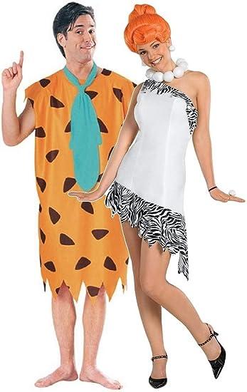 Fancy Me Paar Herren Damen 60s Jahre Kostüm Fred Wilma