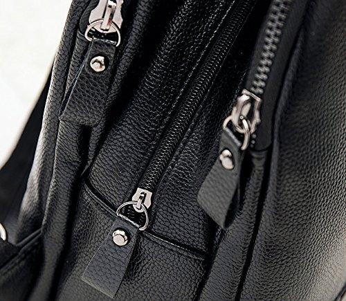 CLOTHES- Bolsa De Hombro Femenina Europea Y Americana De Corea De La Moda Salvaje Casual PU Mochila De Las Señoras