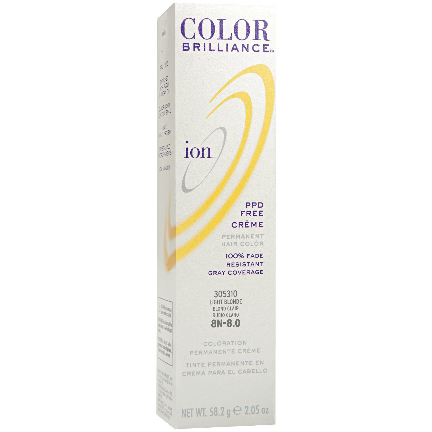 Durable Service Ion 8n Light Blonde Permanent Creme Hair Color 8n