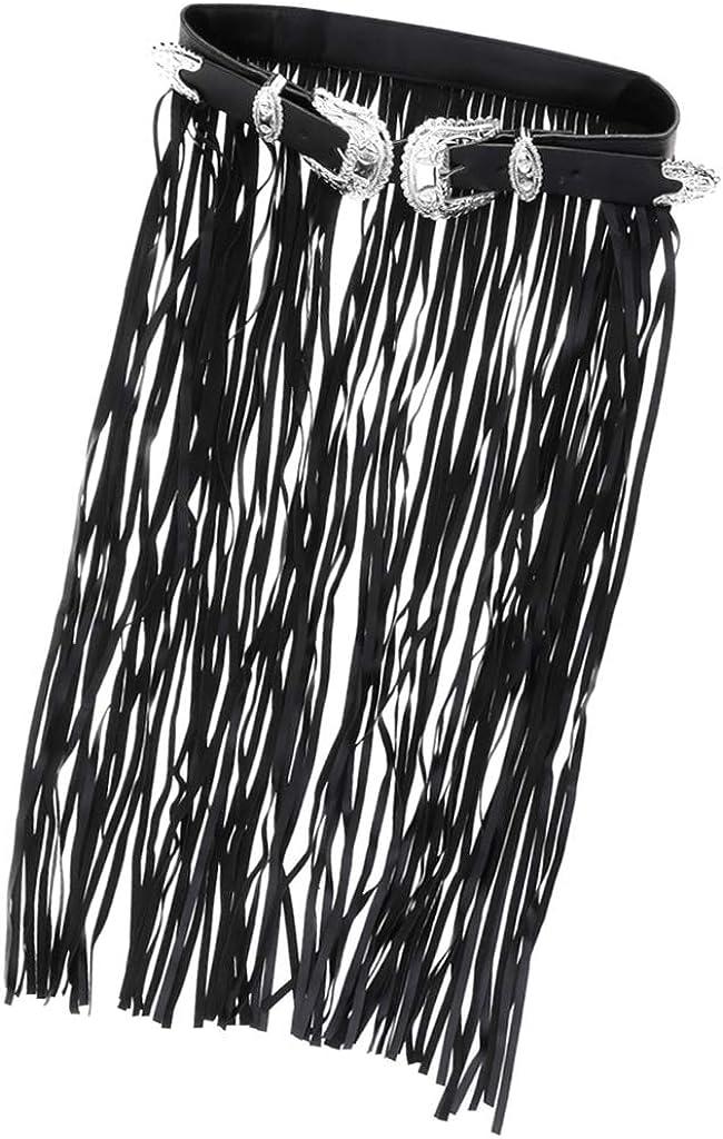 Sharplace Punky Con Borlas Vintage Vestido De Flecos De Cuero Para Mujer Cinturón Con Hebilla De Estilo Gitano