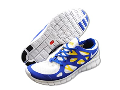 newest 56d8a 03157 Nike Free Run+ 2 LAF Livestrong Mens Running Shoes White White-Old Royal-