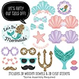 Lets Be Mermaids - Baby Shower or Birthday Party Photo Booth Props Kit - 20 Count