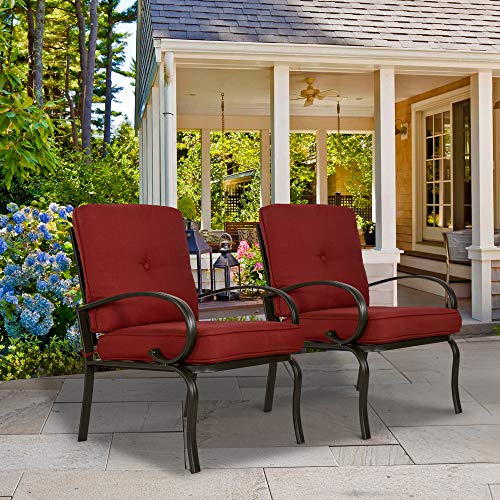 Amazon Com Furniture Outdoor Club Chair Set Of 2 Patio Dining