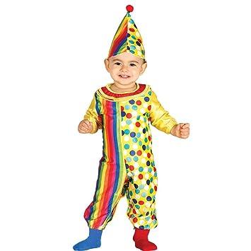 3203a3ac Baby Clown Pierrot Polka Dot Rainbow Fancy Dress Costume 12-24 months