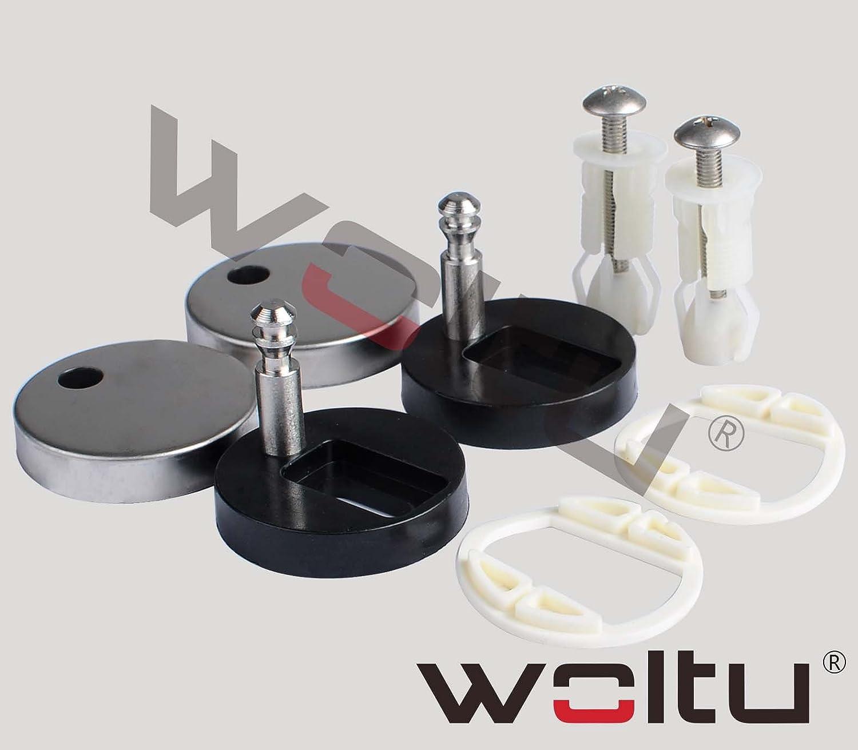 WOLTU Asiento de inodoro Duropl/ástico WC Tapa y Asiento para Inodoro con Cierre Suave F/ácil Instalaci/ón 2439