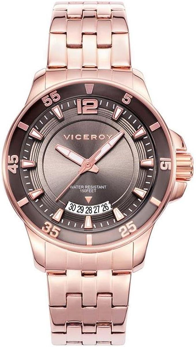 Viceroy Reloj Analogico para Mujer de Cuarzo con Correa en Acero Inoxidable 42252-45