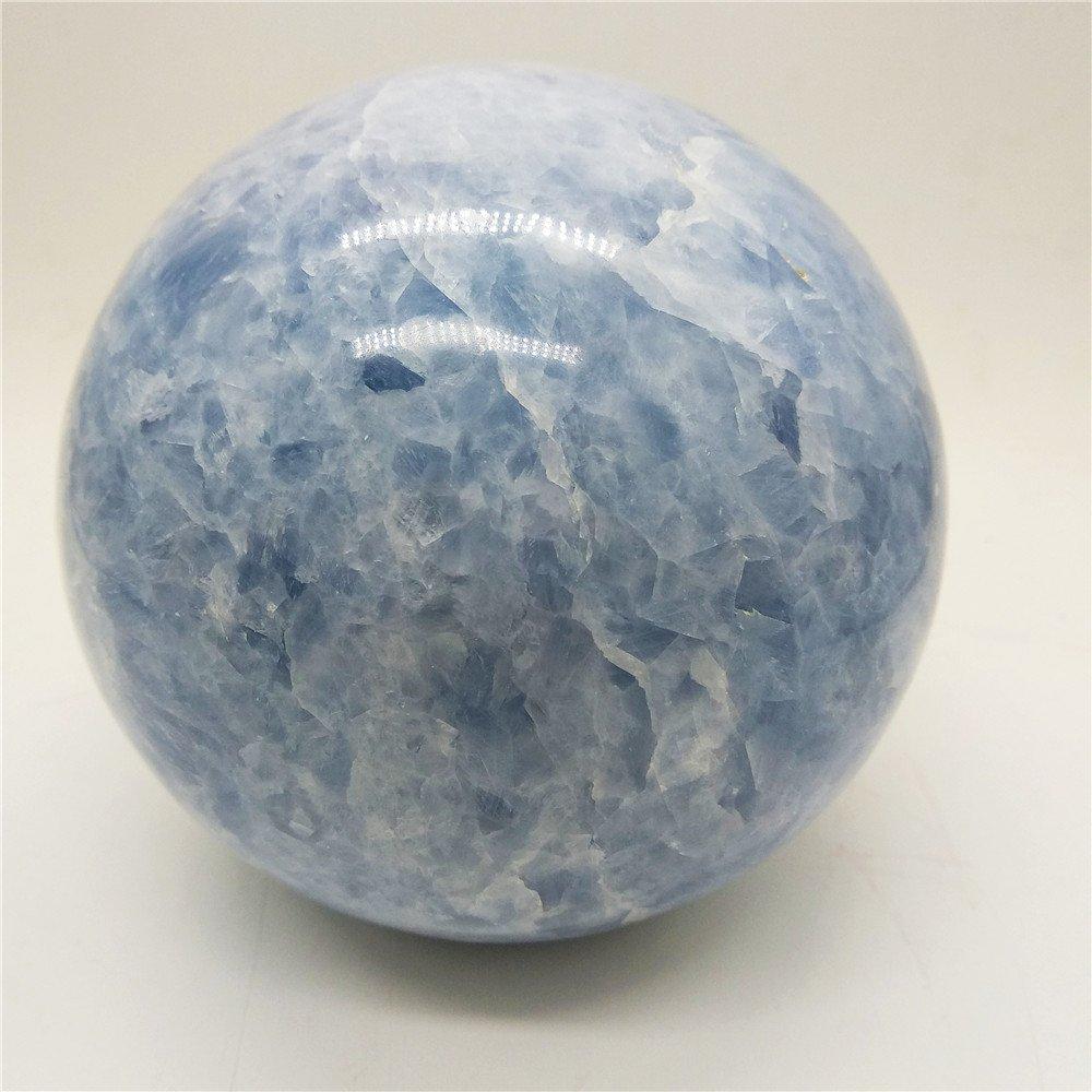 LIXUAN Celestite Crystal Sphere Ball Healing Crystal Sphere Ball Mineral Ball Crystal Polished Stone (90-100mm)
