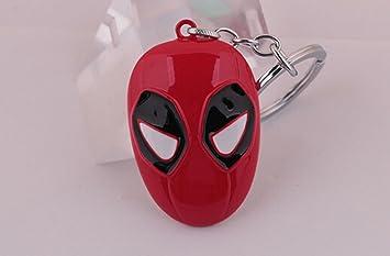 Marvel Deadpool Máscara Colgante Llavero Llavero Repuesto ...