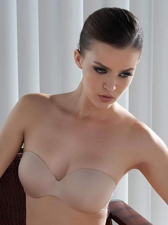 Felina Women's Body luxe Strapless Bra, Black, 34C