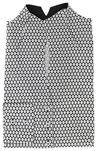 ETERNA long sleeve Blouse COMFORT FIT printed negro/blanco