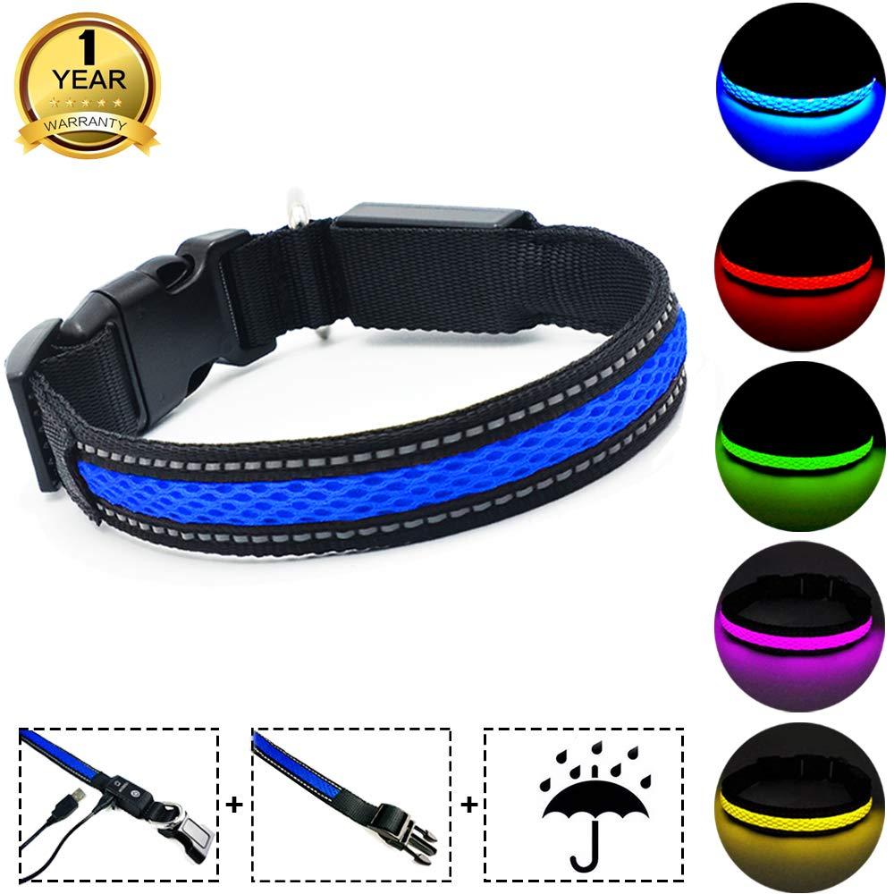 MASBRILL Flashing Dog Collar Light with USB Fast Charging Dog Flashing Collar for Night Walking-6 colors 3