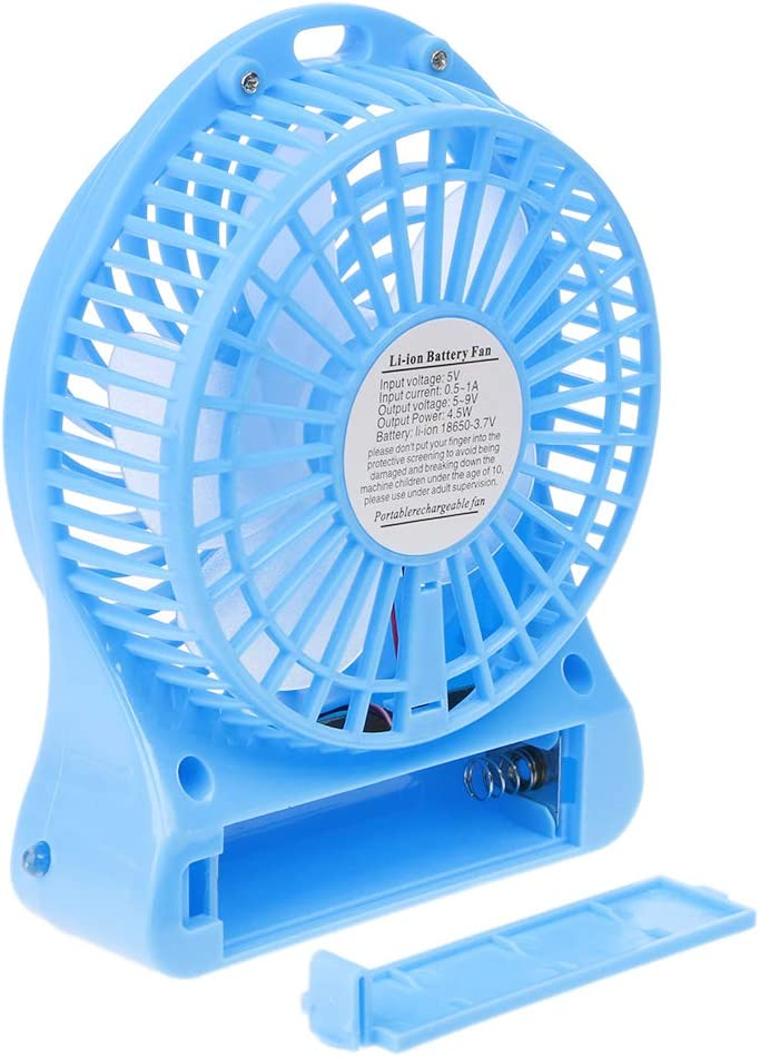 cici store 3 Speeds Wind Desk Fan with LED Light,USB Small Fan for School Office