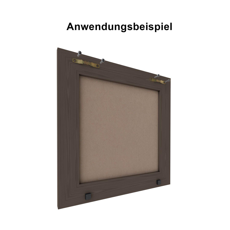 Amazon.de: hang-it Bilderrahmen - Holzrahmen Aufhänger Set - Bilder ...
