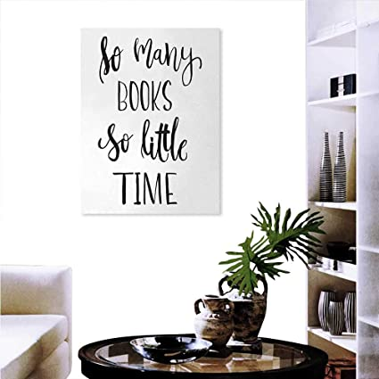 9e2267fbdb7ac Warm Family Book Customizable Wall Stickers Inspirational Quote Modern  Brush Lettering Print So Many Books So