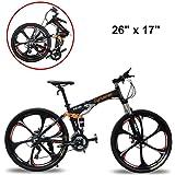 """Extrbici bicicleta de montaña MTB bike FR100 bicicleta plegable 26"""" X 17"""" aleación de aluminio marco Shi-mano 24 velocidades con suspensión completa doble freno de disco mecánico para"""