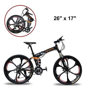 """Extrbici bicicleta de montaña MTB bike FR100 bicicleta plegable 26"""" X 17"""" aleación de"""