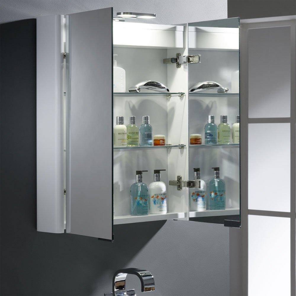 Roper Rhodes Entity Bathroom Cabinet Double Doors & LED Light ...