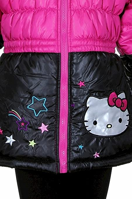 7d15deaaa Amazon.com: Hello Kitty Infant/Toddler Girl's HK032 Pink Puffer Hooded  Winter Jacket Sz. 2T: Down Alternative Outerwear Coats: Clothing