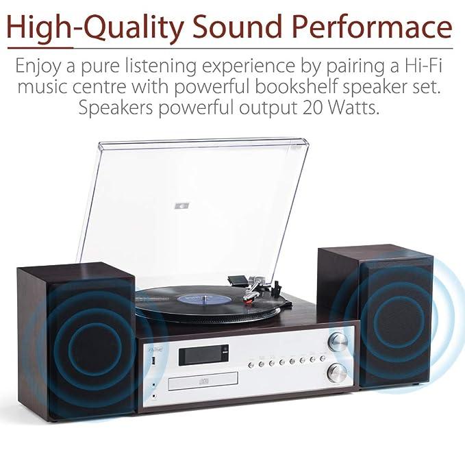 Shuman MC-265DBT Centro de Música de 7 en 1, Altavoces Estéreo ...