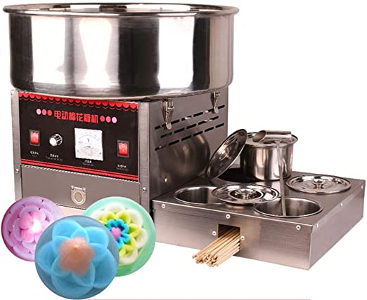 Máquina de azúcar completamente automática de algodón eléctrico para hacer dulces: Amazon.es: Hogar