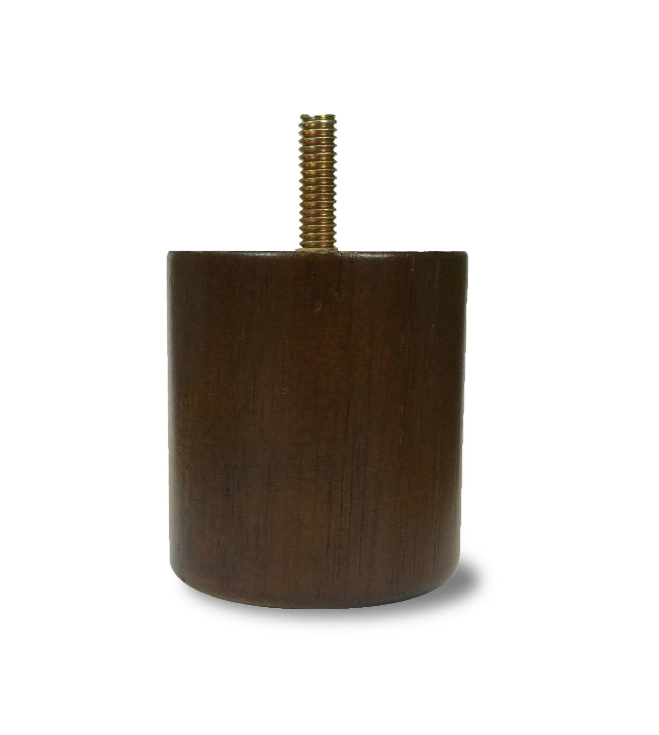 2 1/2'' Walnut Cylinder/Cylindrical Style Sofa/Couch/Chair Wood Legs [5/16'' Bolt] - Set of 4