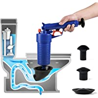 Air Drain Blaster,Power Toilet Plunger,Pressure Pump Cleaner,High Pressure Plunger for Bath/Toilets/Sink/Floor Drain/Kitchen Clogged Pipe