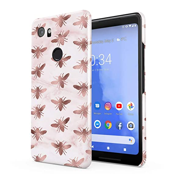 the latest 8033b 29ac2 Amazon.com: Rose Gold Bees Pattern Hard Plastic Phone Case for ...