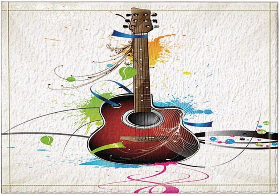 vrupi Dibujo Color o patrón Alfombras baño para Guitarra ...