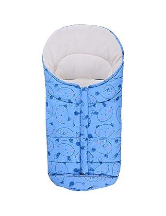 BESBOMIG Saco de Dormir Unisex para Cochecito de Bebé Universal - Forro Polar Impermeable Saco de Paseo Resistente contra el Viento para Niños Niña: ...