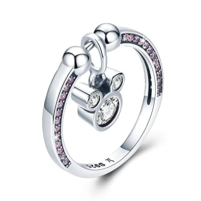 Amazon Com Wostu Women Silver Rings 925 Sterling Silver Mouse Rings