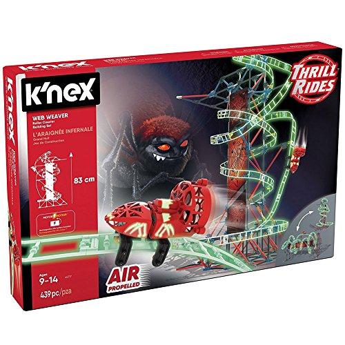 Web Weaver Roller Coaster 430 Piece Building Set - Air Powered Motorized Car
