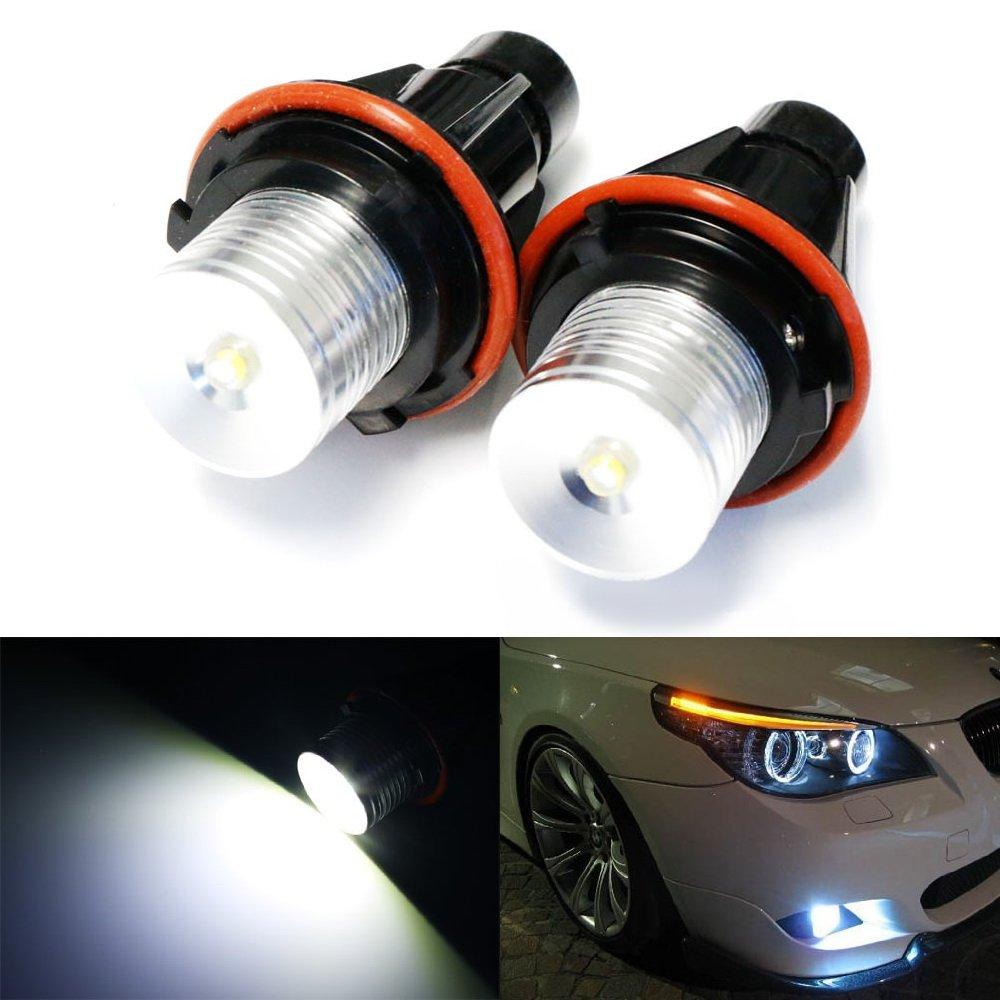 Ijdmtoy 7000k Xenon White 5w High Power Led Angel Eyes 2006 Bmw 7 Series 750li Bulbs For 5 6 X3 X5 Automotive