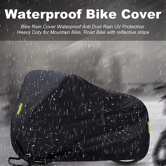 de Moto SICOOO Funda Bicicleta,190T Funda Bicicleta Exterior Impermeable al Aire Libre contra Lluvia para la Cubierta de Bicicleta de Bicicleta de Monta/ña