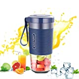 Morphy Richards Portable Blender Fruit Juice Mixer USB Smoothies 300ml Home Outdoor Travel Juicer Rechargeable Mini BPA Free(Blue)