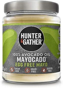 Hunter & Gather Mayocado - Mayonesa Vegana de Aceite de Aguacate Puro 175g | Sin Huevo, Libre de Colorantes Artificiales y Saborizantes | Paleo, Ceto ...