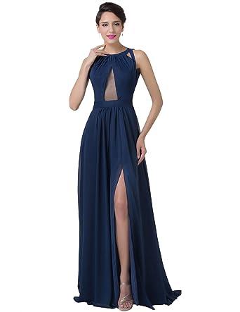GRACE KARIN Evening Prom Cocktail Blue Dress (Navy Blue, 10)