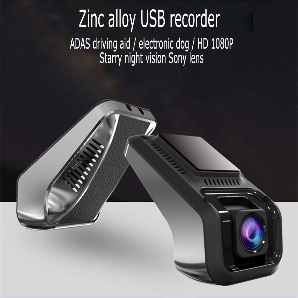 JERFER USB Auto Dvr Registratore di Guida Fotocamera HD 1080P Versione Notturna 170 Grandangolare