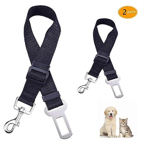 WJIASI Cinturón de Seguridad para Perros, para el Coche, con arnés ...