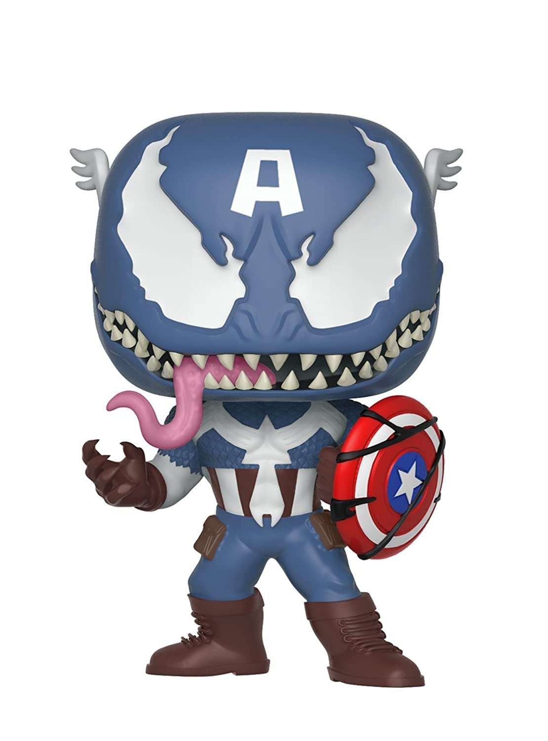 Funko Pop Marvel: Venom - Venom Captain America Collectible Figure, Multicolor 32686