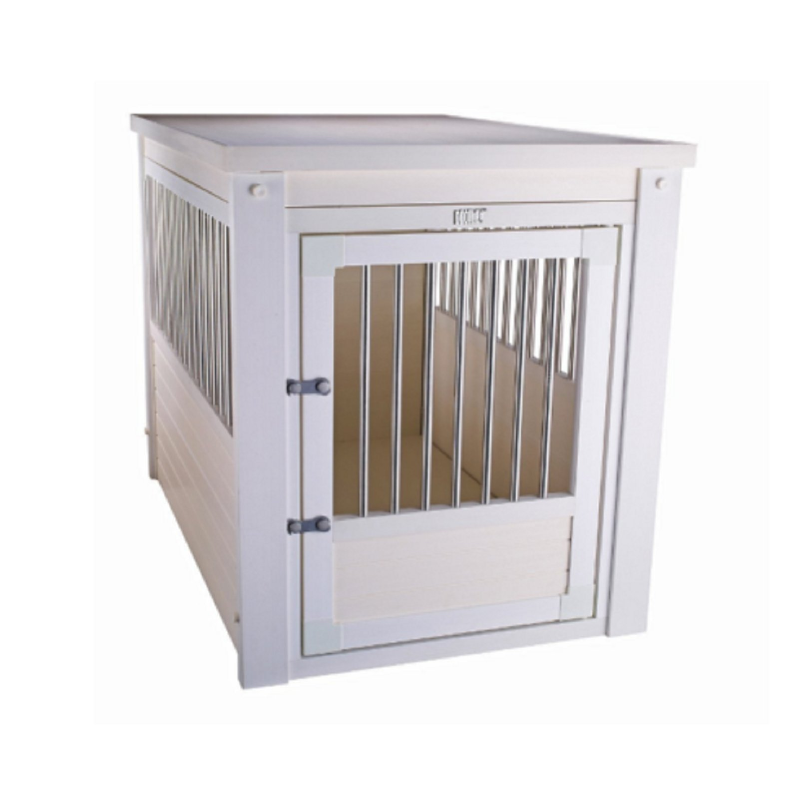 Hot Sale! Small Breed Dog Kennel White End Table Cage Crate Pet Wooden Medium Puppy Bed