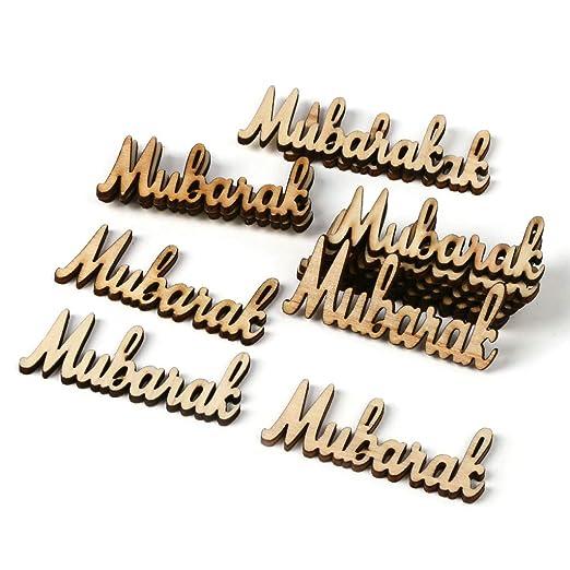 Xxguang 15 piezas de madera para decoración de mesa de Mubarak ...